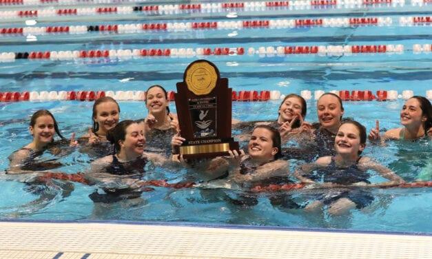 Evergreen Girls Make  Annual Splash at State: Cougars Win Again! Again!